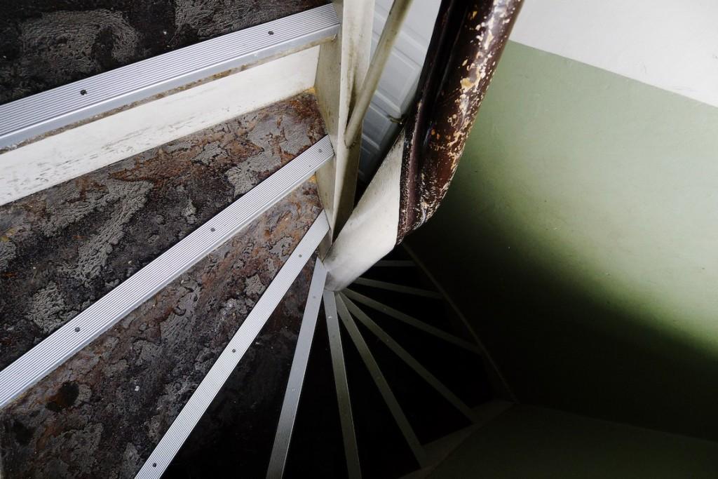 Bagtrappe med metallister - Foto: Eigil Mølvig Jensen